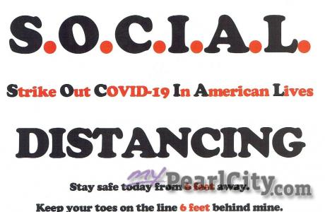 A special message: Social Distancing will keep us safe