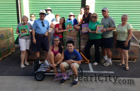 Rotarians pack and ready another Books4Kids shipment to the Philippines