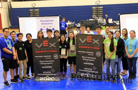 Results of Hawaiian Electrics' State VEX Robotics Championships