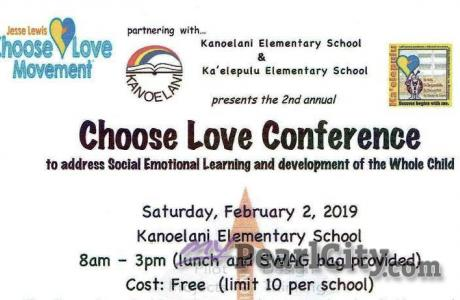 Kanoelani Elementary to host Choose Love Conference