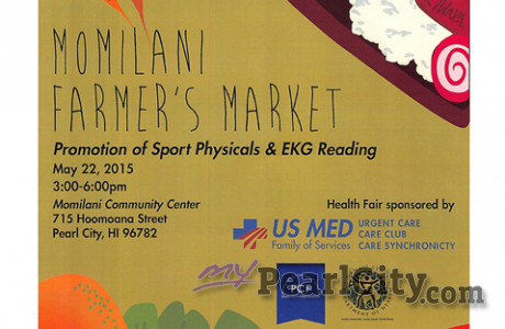 Health Fair this Friday at  Momilani Farmer's Market