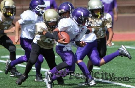 Pearl City Pop Warner Football Registration, this Saturday April 18,  at the Pea