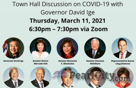 Pearl City-Aiea Town Hall Virtual Zoom Meeting - Thursday, March 11, 2021
