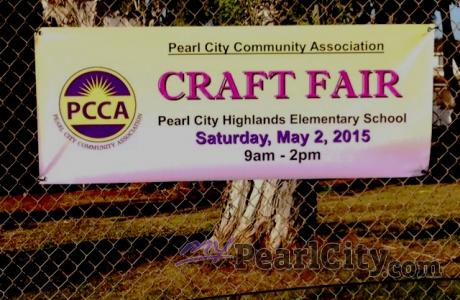 PCCA  Annual Spring Craft Fair Fundraiser, Saturday, May 2 at Pearl City Highlan