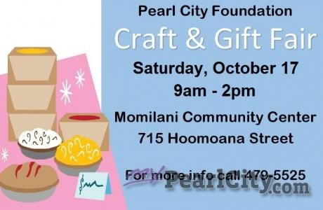 Pearl City Foundation Craft & Gift Fair this Saturday, Oct.17 at the Momilani Co