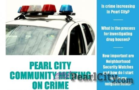 Pearl City Community on Crime meeting Monday, October 6