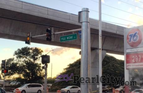 Rail construction lane closures announced in Pearl City between Puu Momi and Wai