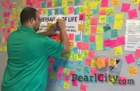 Messages of Life Wall expands with words of Love, Change