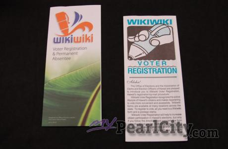 Wikiwiki Voter Registration Forms Available at Public Libraries