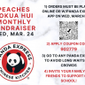 PEACHES Kokua Hui Monthly Fundraiser will be at Panda Express on March 24 Wednes