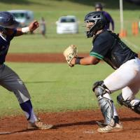 Aiea cuts down Pearl City's 7th inning rally at the plate to win 6-5 (3.14.2020)