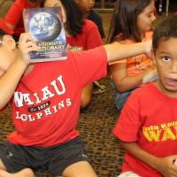 Waiau Elementary third graders receive free dictionaries from the Rotary Club of