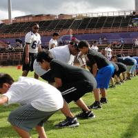 Photo of Pearl City Chargers free youth football clinic