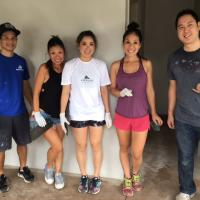Volunteers turn out in force in support of Kahauiki Village (12/9/2017)