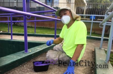 District 50 Lions volunteers finish up beautification project at Highlands Inter