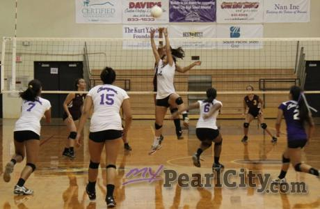 Pearl City sweeps Castle 25-19, 25-23, 25-22 in the OIA Red Division Play-Offs (