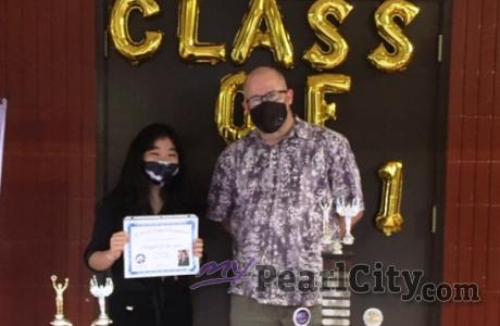 Remy Kubota honored with 2021 Charger of the Year Award | Pearl City High School