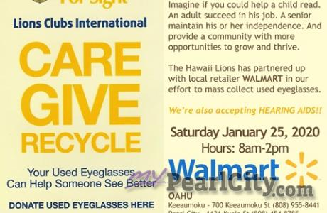 "Lions Clubs International ""Lions RECYLCLE For Sight"" this Saturday, January 25 a"
