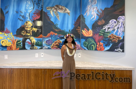 """IN RECOGNITION OF WORLD OCEANS MONTH TEEN """"ARTIVIST"""" UNVEILS NEW TRIPTYCH MURAL"""