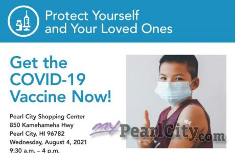 HPH Covid-19 Vax Squad Bus returns to Pearl City Shopping Center on Wednesday, A