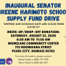 Inaugural Senator Breene Harimoto School Supply Fund Drive